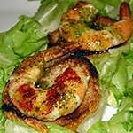 recette Tartines de gambas au beurre d'escargot