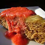 recette Gateau tatin à la rhubarbe et son coulis de fraises