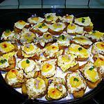 recette Canapés aux oeufs de caille