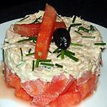 recette Tartare de pastèque au thon