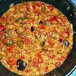 recette Tchoutchouka aubergine,poivron et oeufs