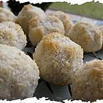 recette Ooo Boules noix de coco / vanille ( Sans Beurre ) ooO