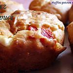 recette muffins poivron rouge et concassés de feta