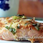 recette Saumon grillé à la sauce miso blanc et sept-épice japonaise