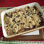 recette Crumble poire et pépites de chocolat
