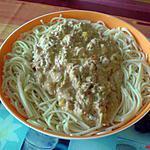 recette Spaghetties au thon