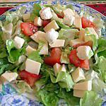 recette Salade composée au boursin ail et fines herbes