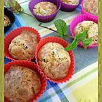 Muffins aux petits pois, menthe et comté