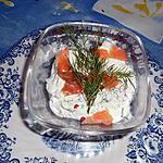 recette Verrine de fromage blanc au saumon