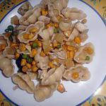 recette Pates froide au poulet ananas et c est petit legume