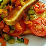 recette Croque-Monsieur aux légumes .