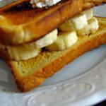 recette Croque-Monsieur à la banane & ricotta