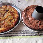 recette gateau  chocolat et gateau poires