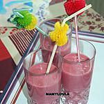 recette Smoothie banane,framboises,fraises,poire