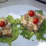 recette Présentation d'assiette macédoine de légumes