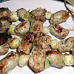 Brochettes d andouillette et saucisse
