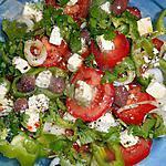recette Salade de tomate,poivron a la féta