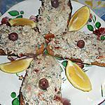 recette Tartines de sardinade au chévre