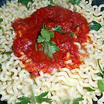 recette Fusilli lunghi sauce tomate ail et piment