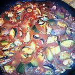 recette Tajine de fruits de mer