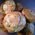recette Moelleux à la courgette et au chèvre, idéal accompagné d'une salade verte.