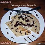 recette crèpes déguisée de poire chocolat