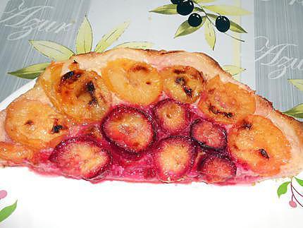 tarte aux prunes bicolore 430