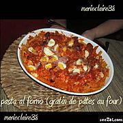 gratin de pâtes au four : recette gratin de pâtes au four ( pasta al forno)