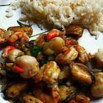 recette Fruits de mer à la plancha ( à gaz )