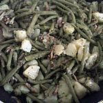recette poêlé pomme de terre haricots vert et lardons