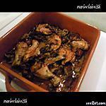 recette poulet aux foies de volaille et ses rondelles de poireaux au vin blanc