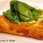 recette Galettes citronnées à la féta et à l'aneth et salade d'épinards à l'aneth