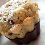 recette Petit fondant à la noix de coco en coque de chocolat