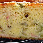 cake aux olives, jambon et comté tres moelleux