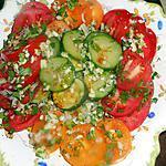 recette Salade de tomates et courgette