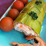recette Rouleau de poireaux aux deux saumons