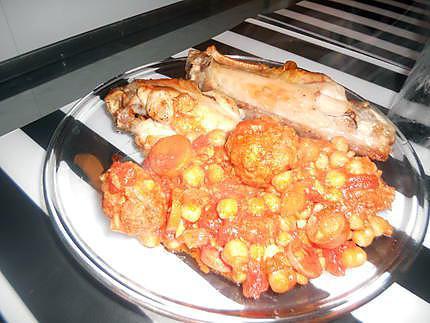 Recette de boulette de viande en sauce aux pois chiche - Boulette de viande en sauce ...