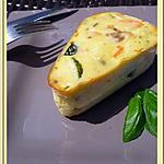 recette Clafoutis de saumon fumé aux courgettes.