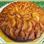 recette Gâteau renversé aux pêches