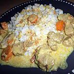 recette Blanquette de sauté de porc au curry