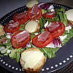recette Salade de tomates serrano et mozzarella chaude