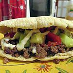 recette Pita burger a la salade de concombre tomate