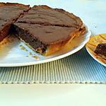 recette tarte amandes chocolat