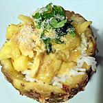 recette Poulet à l'ananas, curry et coco