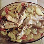 recette Cuisses de poulet, pommes de terre et tomate au four