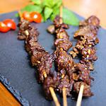 recette brochettes de boeuf grillé au Satay