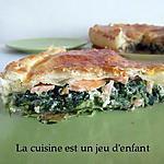 recette Tourte aux épinards et au saumon fumé