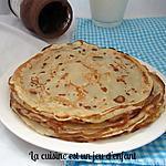 recette Crêpes sans oeufs et sans repos