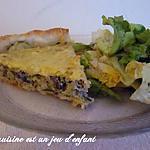 recette Quiche aux courgettes , champignons et thon