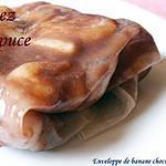 recette Enveloppe de banane chocolarée